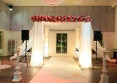 stock photo of canopy  - jewish traditional wedding ceremony - JPG