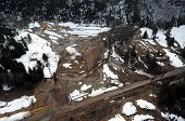 image of mudslide  - Mudslides scar the hillsides of Washington state following heavy rain on top of snow.