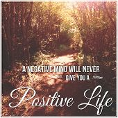 pic of positive negative  - Inspirational Typographic Quote  - JPG