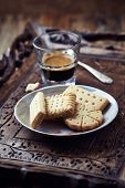 picture of shortbread  - Shortbread and a Glass of Coffee - JPG