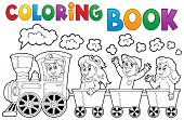 picture of color wheel  - Coloring book train theme 2  - JPG