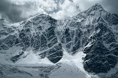 pic of andes  - scenic snowy mountain range in south american Andes in Peru Ausangate - JPG