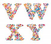 pic of letter x  - Letter set made of colorful sprinkles  - JPG