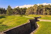 image of battlefield  - The trenches on battlefield of Vimy ridge France - JPG