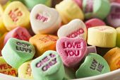 foto of valentine candy  - Colorful Candy Conversation Hearts for Valentine - JPG