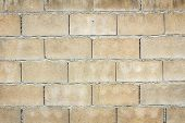 stock photo of hollow  - Hollow brick wall with grunge texture background - JPG