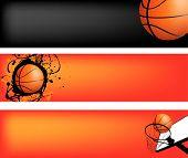 Постер, плакат: баскетбол веб баннер набор