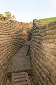 picture of battlefield  - the trenches of the battlefield at Vimy France - JPG