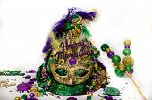 foto of tuesday  - Happy Mardi Gras Hat celebration Fat Tuesday