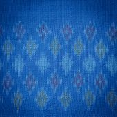 image of northeast  - Close up Thai style handcrafted textile made by silk from northeast Thailand - JPG