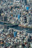 picture of tilt  - Tokyo urban rooftop view background tilt - JPG