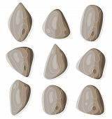 foto of sedimentation  - Illustration of a set of funny simple cartoon rocks and stones - JPG
