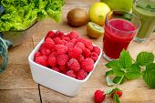 picture of smoothies  - Organic raspberry - JPG