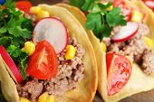 stock photo of tacos  - Mexican food Taco - JPG
