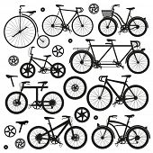stock photo of tricycle  - Bicycle Vector.  - JPG