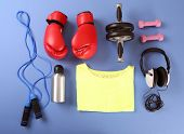 stock photo of t-shirt red  - Sports equipment and T - JPG