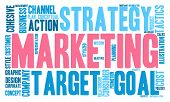 pic of market segmentation  - Marketing word cloud on a white background - JPG