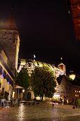 foto of bavaria  - Night view of Nuremberg after rain - JPG