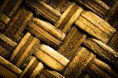 stock photo of bamboo  - bamboo texture thailand culture thai handmade from bamboo - JPG