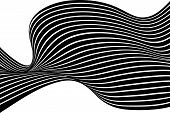 foto of mobius  - black and white mobious wave stripe optical design - JPG