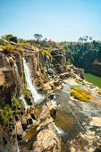pic of lats  - The big Pongour waterfall near Da Lat city - JPG