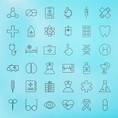 pic of medical  - Medical Line Health Care Icons Set - JPG