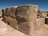 image of urn funeral  - Sillustani ancient Funeral Towers in the Andes - JPG
