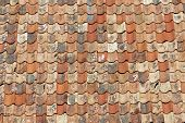 Постер, плакат: Roof Made Of Old Roofing Tiles