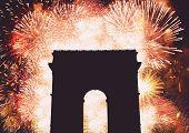 Постер, плакат: fireworks Arc Triumph