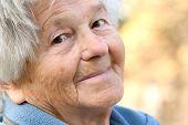 Постер, плакат: Пожилая женщина улыбки