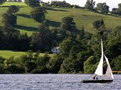 foto of u-boat  - **Note slight blurriness, best at small sizes. ullswater in the lake district england united kingdom (u.k.). this is in an area of britain that is famous for its picturesque lakes and is a favourite holiday destination for people who like walking and sail - JPG