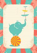 image of juggler  - Illustration of an elephant on the ball at the circus - JPG