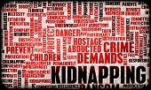 stock photo of kidnapped  - Kidnapping as a Growing Crime in a Concept Art - JPG