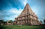 stock photo of chola  - an ancient hindu temple in southern india - JPG