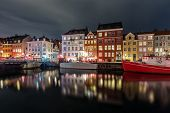 Scenic Summer View Of Nyhavn  In The Old Town Of Copenhagen, Denmark poster