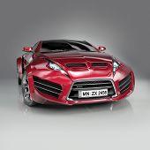 Постер, плакат: Гибридный спортивный автомобиль Не брендовую концепт кар