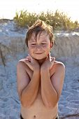 Young Happy Smiling Boy At The Beach