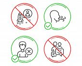 Do Or Stop. Remove Account, Startup And Breathing Exercise Icons Simple Set. Communication Sign. Del poster