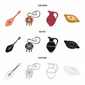 Vector Illustration Of Culture And Sightseeing Symbol. Collection Of Culture And Originality Stock S poster