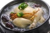 stock photo of ginseng  - steaming samgyetang - JPG
