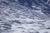 stock photo of windswept  - Windswept snow on Mt - JPG
