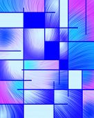 Abstract pattern in Mondrian style. 3D rendering poster