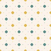 Vector Abstract Colorful Seamless Pattern. Retro Style Ornamental Background. Yellow, Teal And Beige poster