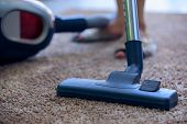 Cleaner,workers Use Vacuum Cleaners To Clean Carpets, Cleaning Carpet Hoover poster