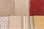 stock photo of clos  - clos up of the  carpet selection repair decoration planning - JPG