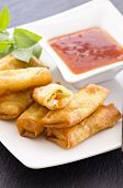 stock photo of lumpia  - spring rolls - JPG