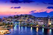 stock photo of inlet  - Agios Nikolaos - JPG