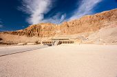 stock photo of hatshepsut  - The exterior of Queen Hatshepsut - JPG