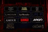 LOS ANGELES - JAN 10:  Picture Nominations at the 2013 Academy Award nomination announcements at Sam