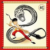 image of anaconda  - An Illustration Of Chinese Snake New Year.